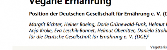 Neues Positionspapier zur veganen Ernährung von der Deutsche Gesellschaft für Ernährung