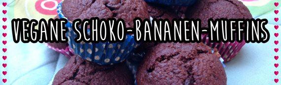 Vegane Rezepte für Mäkelesser: zuckerfreie Schoko-Bananen-Muffins